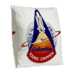 Space Shuttle Columbia (STS-1) Burlap Throw Pillow