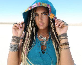 Kurze Day Tripper Hoodie Kleid Pachamama Brown Festival