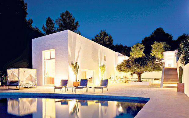 Jade Jagger's chic Ibiza haven is on the market, a five-bedroom villa near the   sleepy town of San Joan in the north of the island.