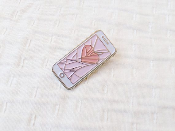 Heartline Bling Lapel Pin by Snowyellow on Etsy