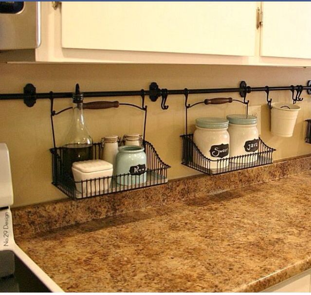 Great way to reduce clutter on the counter! Love!