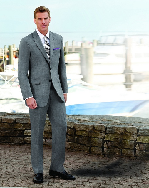Traveler Tailored Fit 2-Button Wool Suits