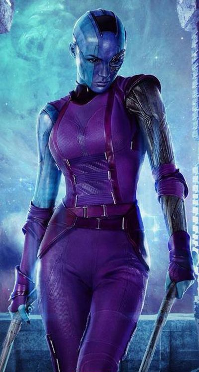 Marvel Comics Cosplay -- Guardians of the Galaxy - Nebula Cosplay Costume Version 01
