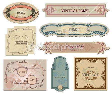 Set vintage labels  for your design. Vector by Константин Ермолаев - Imagen vectorial