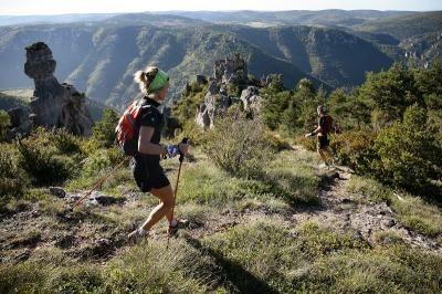 Grand Trail des Templiers: Benoit Cori et Nuria Picas