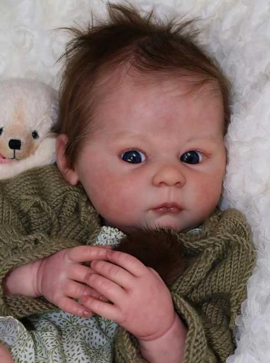 Custom Reborn Baby Girl Claire with Pacifier and Layette