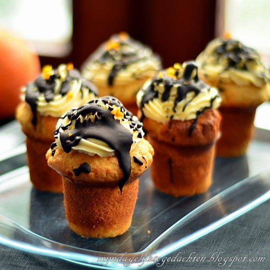 Orange Chocolate Yoghurt Cupcakes