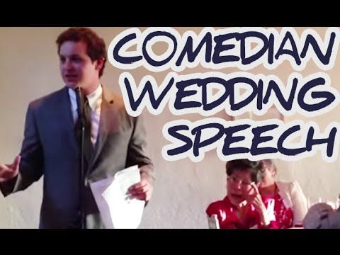 Bride's comedian brother gives hilarious wedding speech