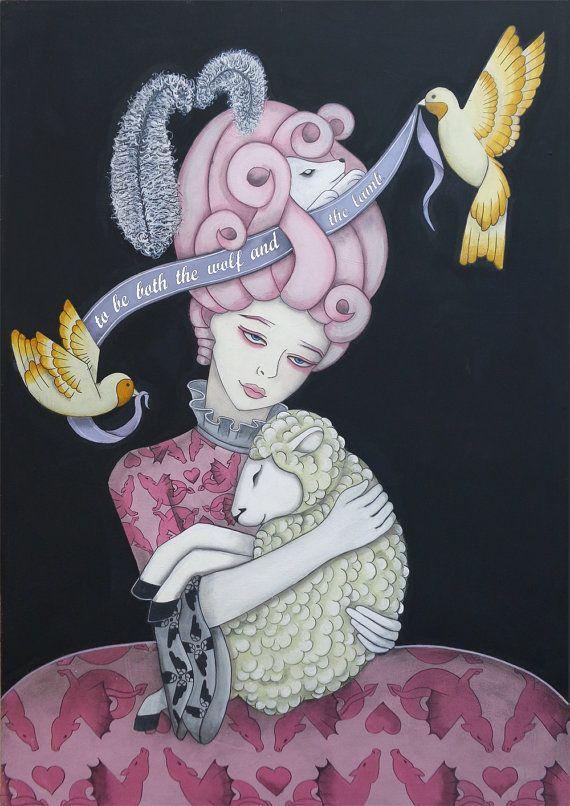 the wolf and the lamb by Virginia Diakaki