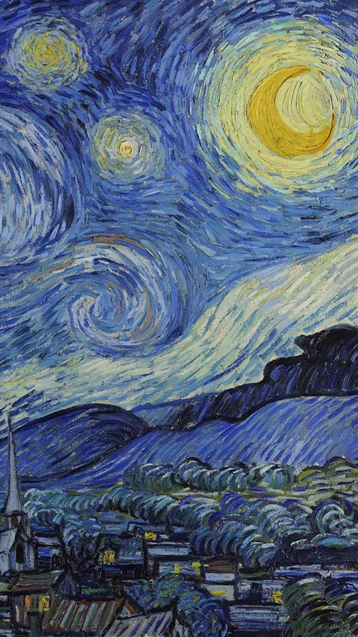 Van Gogh Lockscreen Tumblr Van Gogh Wallpaper Starry Night Van Gogh Vincent Van Gogh