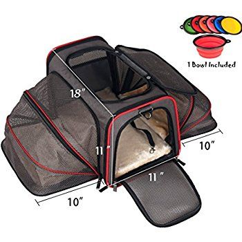 Amazon.com : Premium Airline Approved Expandable Pet Carrier by Pet Peppy- TWO SIDE Expansion, Designed for Cats, Dogs, Kittens, Puppies - Extra Spacious Soft Sided Carrier! (Black) : Pet Supplies