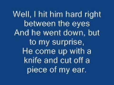 Johnny Cash ( A boy named Sue ) lyrics = A complete story built into his clever lyrics