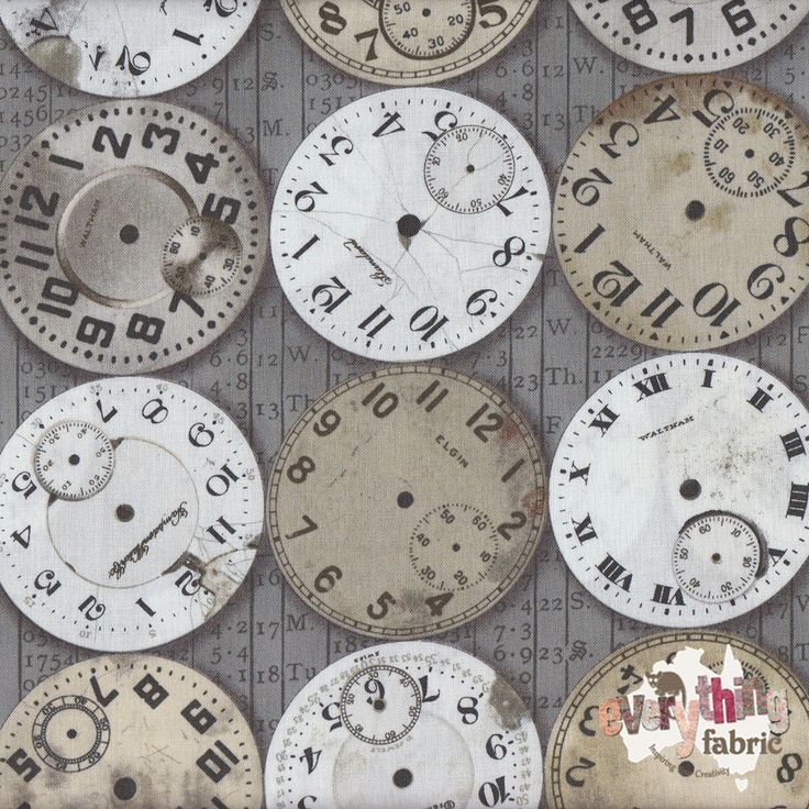 Time Piece http://www.everythingfabric.com.au/shop/category/fabric-by-collection/eclectic-elements/