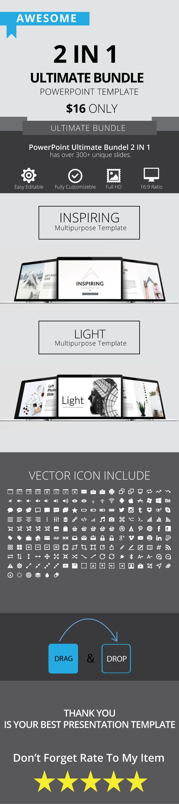 724 best powerpoint template images on pinterest power point ultimate bundle 2 in 1 powerpoint powerpoint templates alramifo Gallery