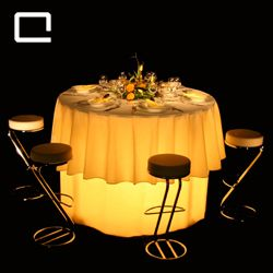 Stehtisch STARLIGHT   Ø 150 kabelloses Multilight, Beleuchtete Möbel