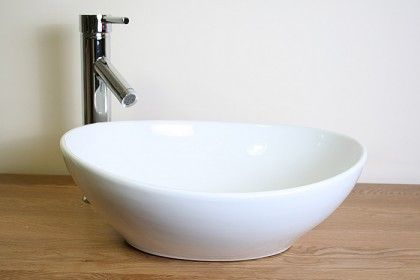 Ceramic Oval Bathroom Basin Tap & Plug 027 - Bathrooms and more store