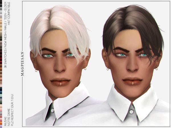Notre Dame Hair Sims 4 Hair Male Mens Hairstyles Hair Styles