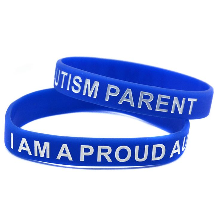 1PC I Am A Proud Autism Parent Silicone Bracelet for Charity Activities, A Great Way To Show Your Support