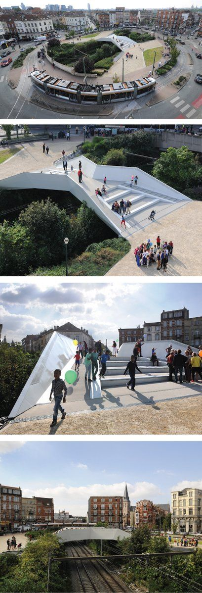 Passerelle place Verboekhoven, by NEY + Partners, completed 2013. Click image…