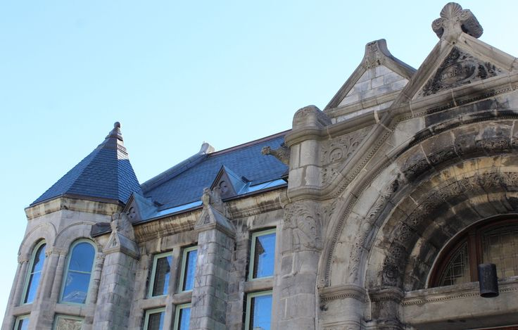 Redpath Hall at McGill University.  North Country Unfading Black roofing slate.