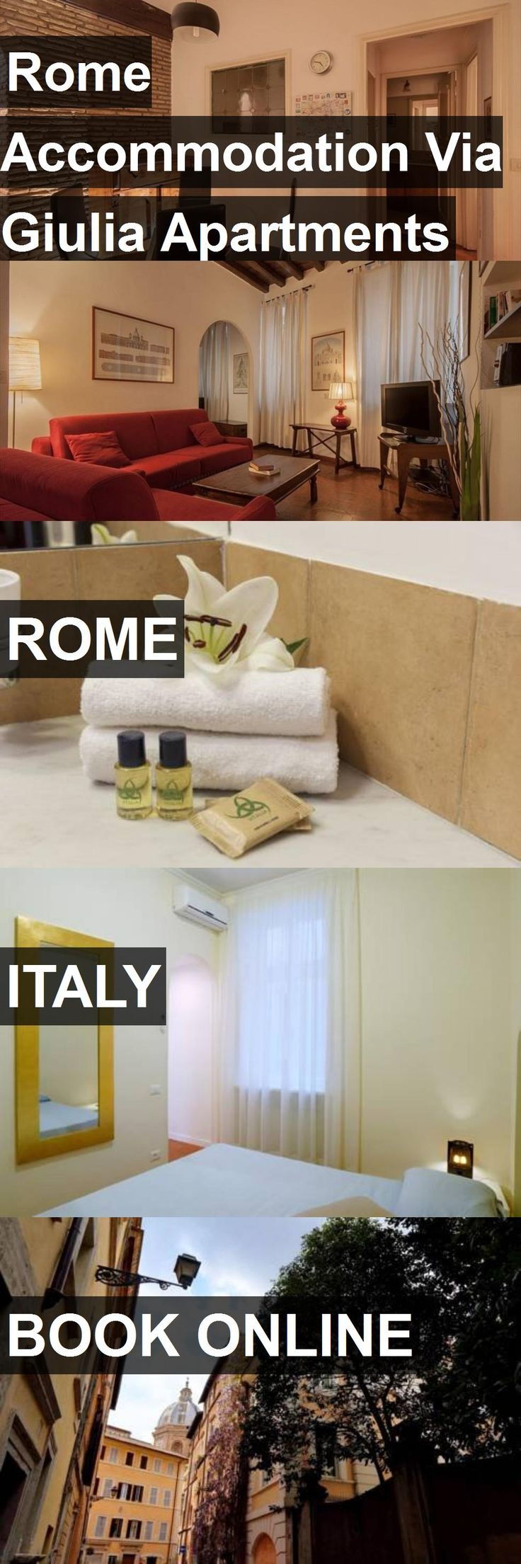 Rome Accommodation Via Giulia Apartments in Rome, Italy. For more information, photos, reviews and best prices please follow the link. #Italy #Rome #travel #vacation #apartment