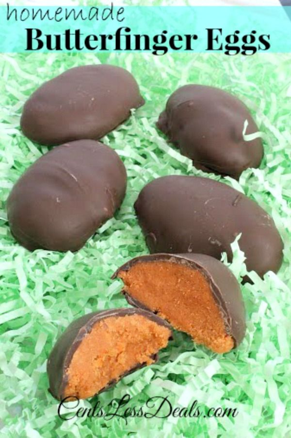 Homemade Butterfinger Eggs with only 3 ingredients!!