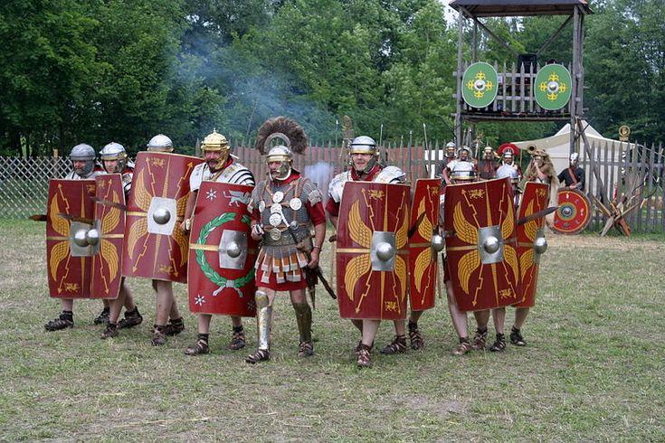 Roman legion attack.