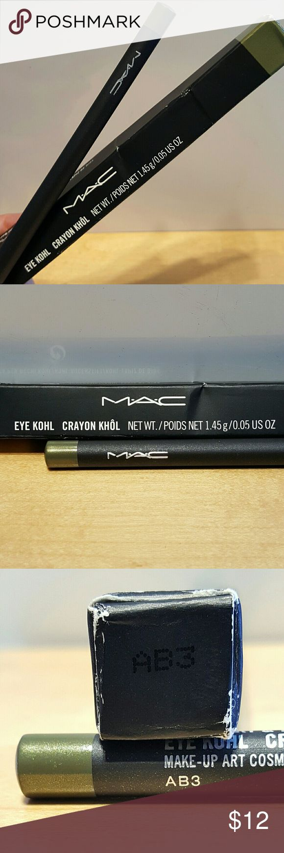 MAC Eye Khol Eyeliner RosemaryThyme Green Brand new in box MAC full size eyeliner in an amazing green! MAC Cosmetics Makeup Eyeliner