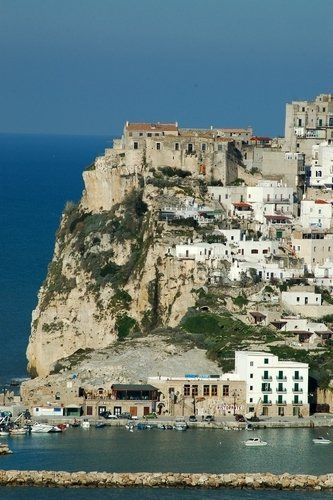 Overview of the town of Peschici, Italy
