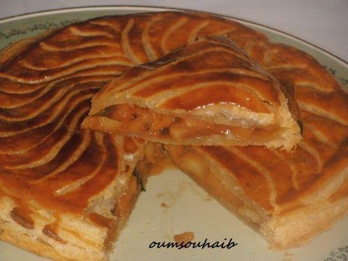 Merveilleuse galette des rois aux pommes et caramel beurre salé
