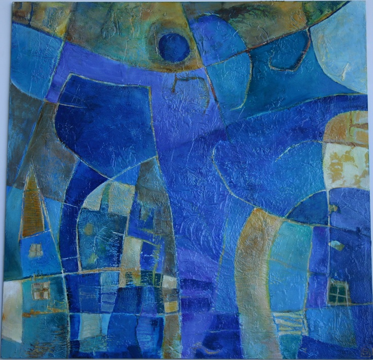 Retrato hablado 2003 acrilico s madera 60 x 60 cm
