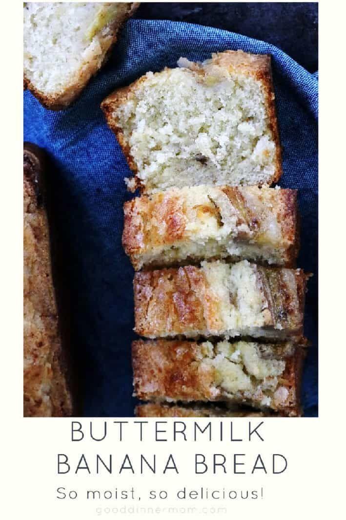 Buttermilk Banana Bread Recipe In 2020 Buttermilk Banana Bread Banana Bread Bread