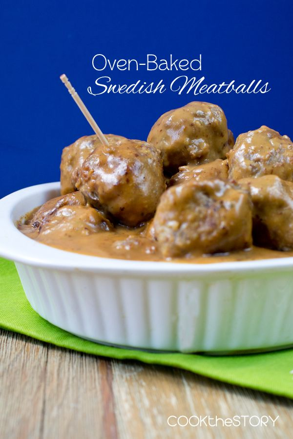 Oven-Baked Swedish Meatballs - a quick and easy dinner solution