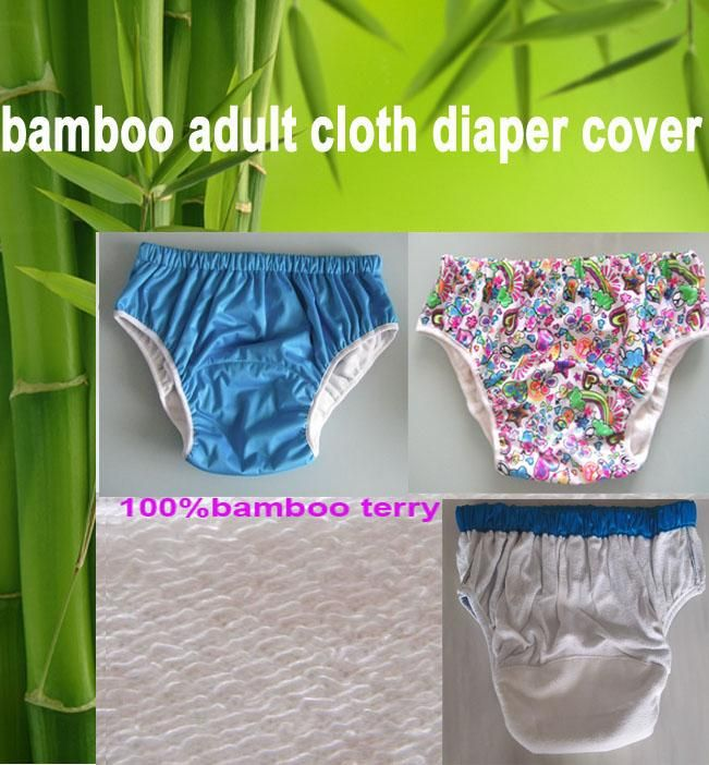 [Visit to Buy] 3 color choice  waterproof Adult cloth diaper cover Nappy nappies bamboo diaper diapers S M L #Advertisement