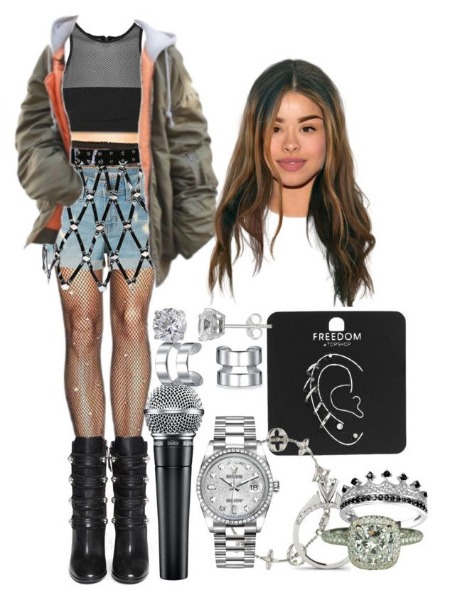 Untitled #1062 by elliepetkova on Polyvore featuring polyvore fashion style Leg Avenue T By Alexander Wang LE3NO WithChic Isabel Marant Topshop Rolex Bling Jewelry Silver Treasures Louis Vuitton clothing