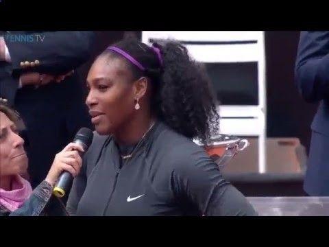 5/15/16 Beautiful #Rena ... Via WTA: 4-Time Rome Champion Serena Williams Gives Her Acceptance Speech In Italian After Winning The Internazionali BNL d'Italia Final in Rome ...
