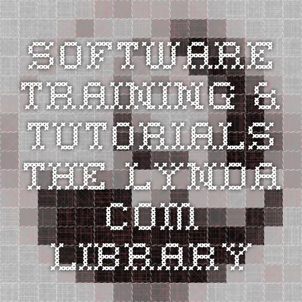 Software training & tutorials - The lynda.com library