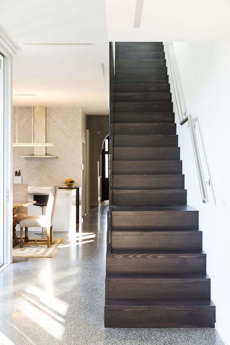 Stairs | Staircase | Victorian Ash | Modern | Traditional | Floorboards | Polished Concrete | Stainless Steel | Glass Balustrade | Timber Stair | Interior Design | Architecture