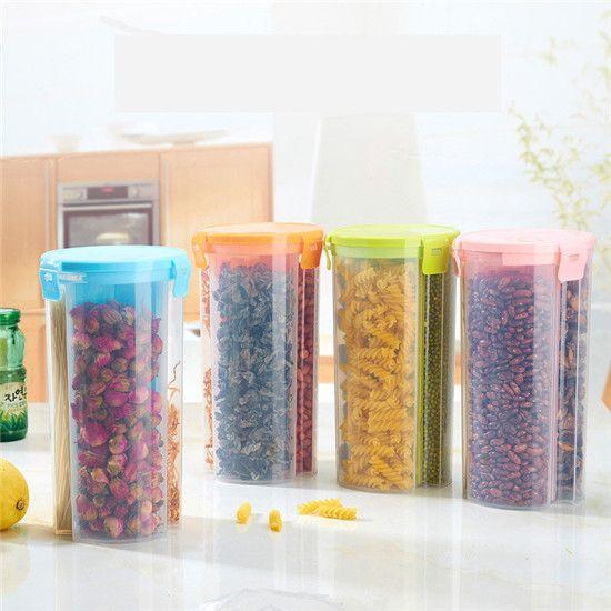 Кухня ящик для хранения Герметичный Полезно Четкими Холодильник Питание фрукты Ящик Для Хранения 3 сетка отверстия Пластиковые Контейнеры Для Пищевых Продуктов HE102 купить на AliExpress