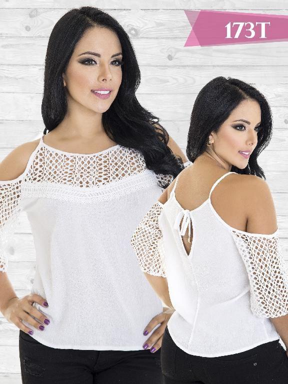 Blusa Moda Colombiana Tabbachi Blanca - Ref. 236 -173 Blanco