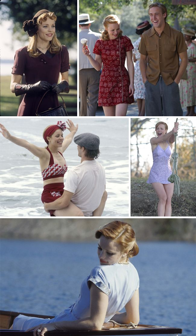 I love Rachel McAdams and her wardrobe in the notebook. her swimsuits are the best.