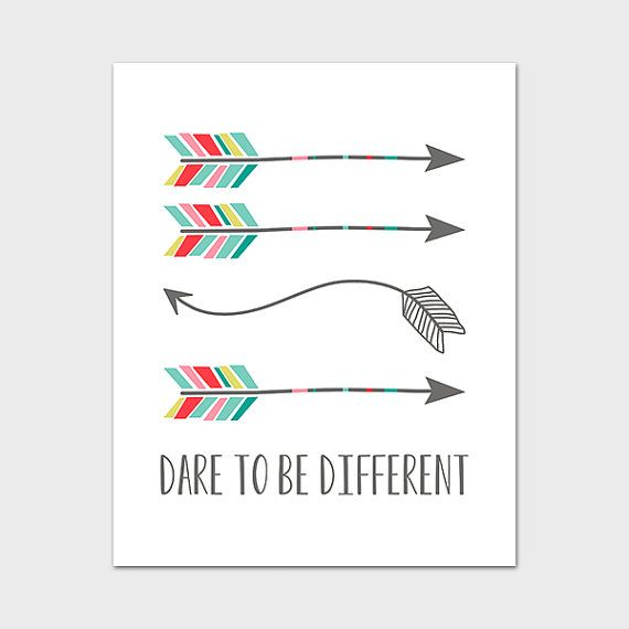 Arrow Print 4x6 5x7 8x10 Instant Download by MossAndTwigPrints