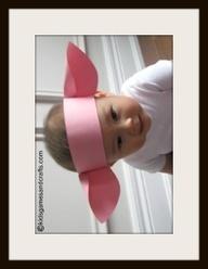 piggy headband + paper cup snout