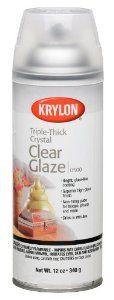 Amazon.com: Krylon 12-Ounce Triple Thick Clear Glaze Aerosol Spray: Arts, Crafts & Sewing