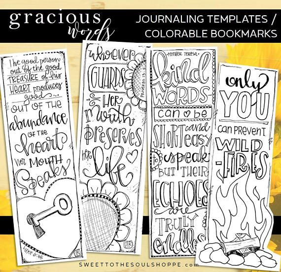 Soul Inspired Bible Journaling Template Color Your Own