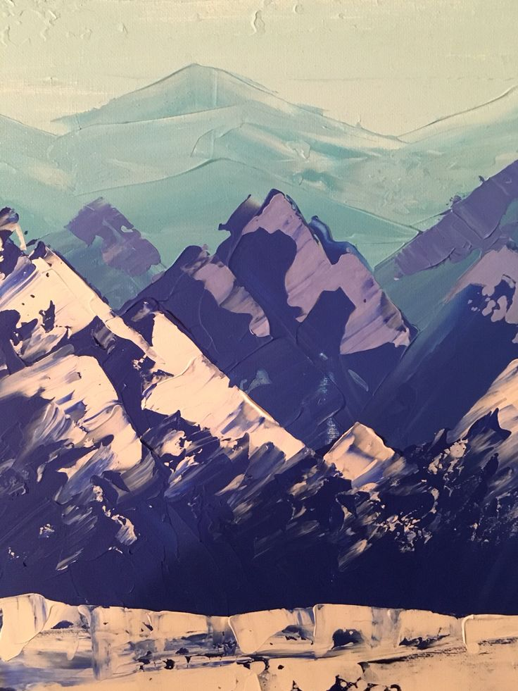 Mountain painting by Anna Gibbs