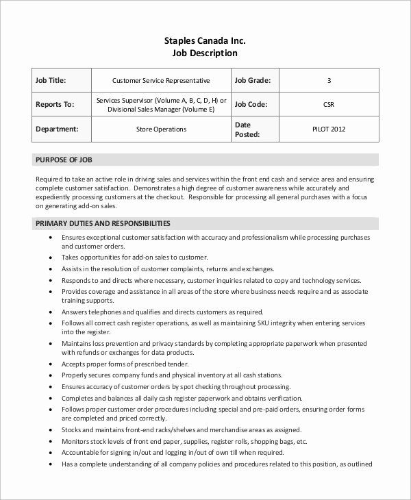 23 Servers Resume Job Description Customer Service Jobs Server