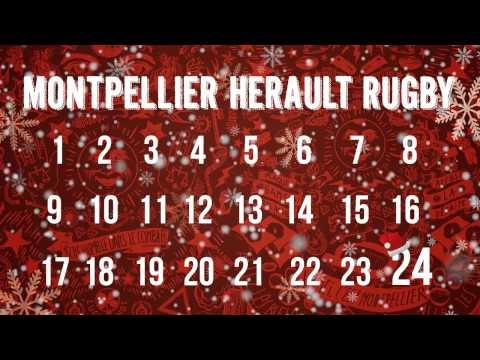 Le Calendrier de l'avent 2012 des #Rugbymen de #Montpellier (#MHR) #rugby
