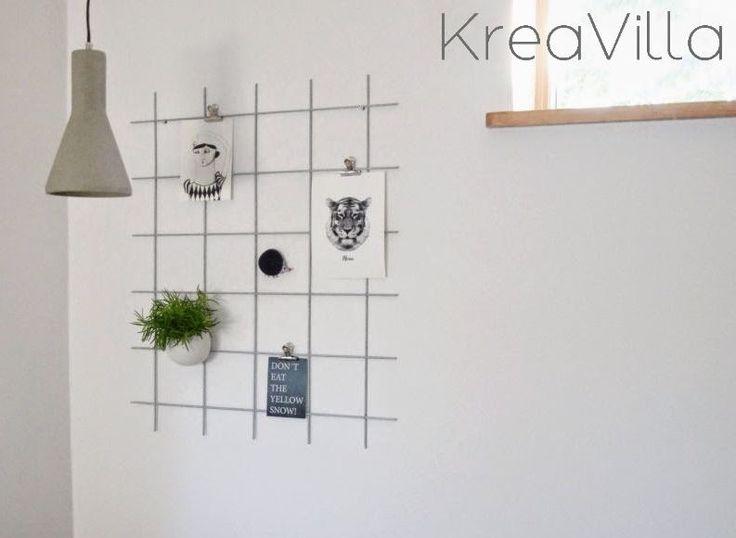 Opslagstavle af metalgitter DIY