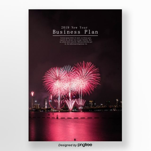 Pink Fireworks At Night To The City Business Newspaper